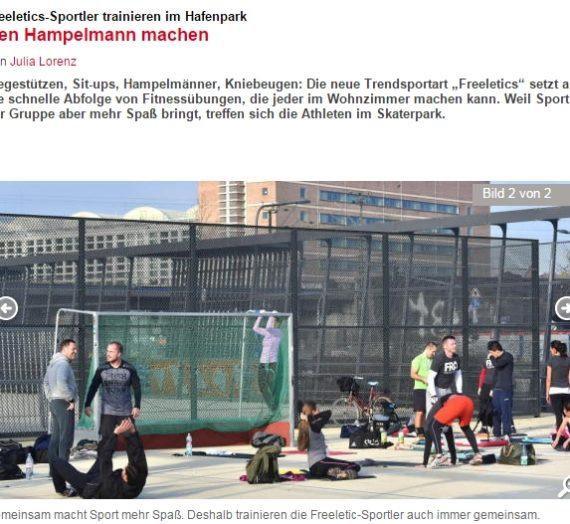 Frankfurter Neue Presse schreibt einen Artikel über unsere FRA Freeletics Gruppe