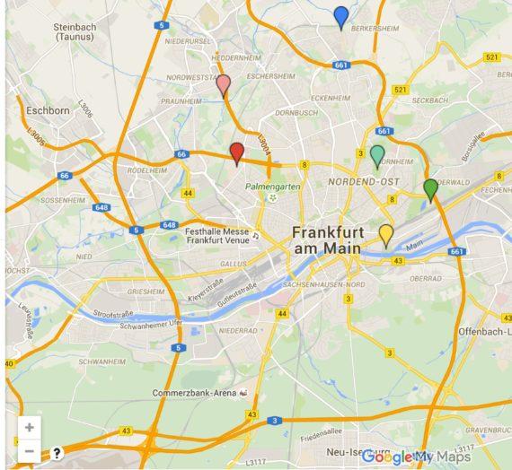 Freeletics Trainingsplätze in und um Frankfurt im Überblick