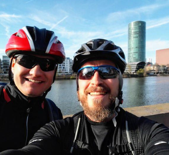 48 Kilometer Fahrrad Tour durch Frankfurt am Main